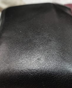 Picture of the surface of genuine leather wallet
